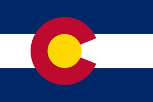 Colorado Flag Red, Blue, Gold, Yellow State Flag Private Investigator and Process Server