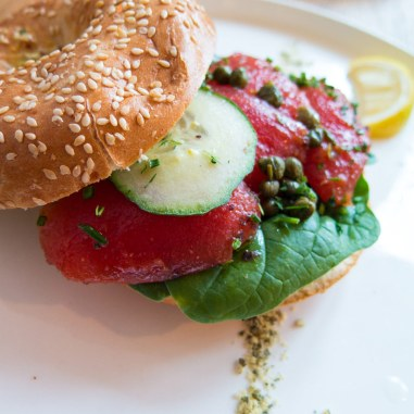 Meatless District Vegan Restaurant Amsterdam West Lunch Bagel Gravad Lax