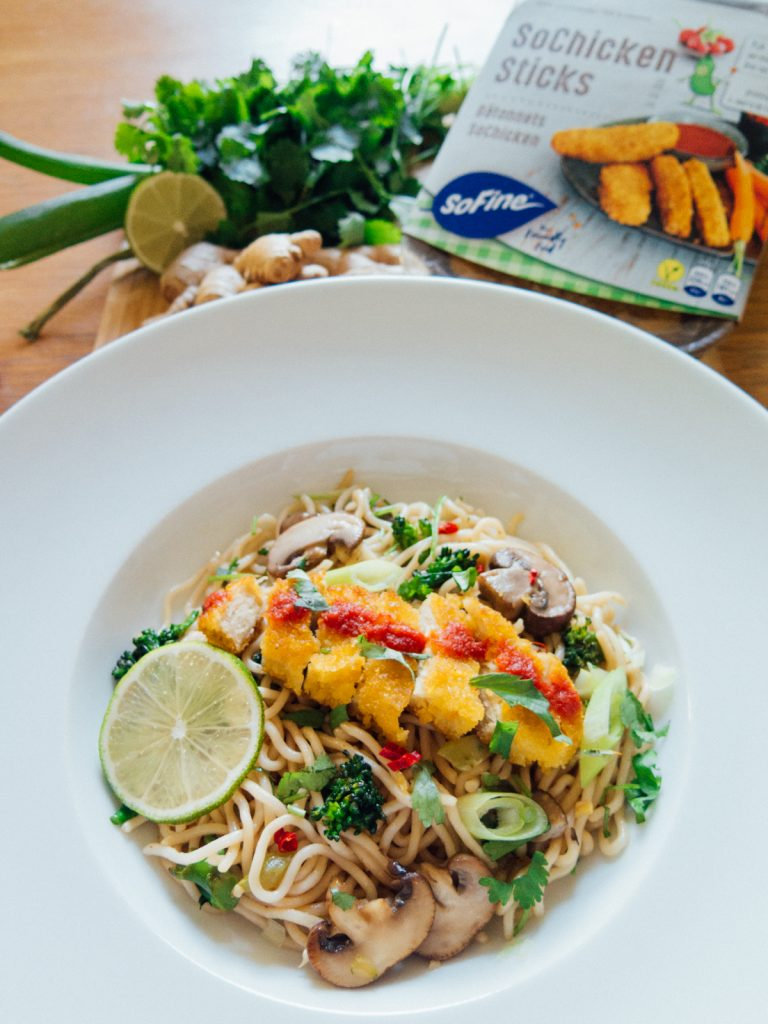Green Amsterdam Vegan recipe stir fry chicken noodles