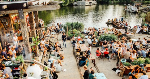 De Ceuvel - terrace water cafe restaurant Green and vegan hotspot - Green Amsterdam