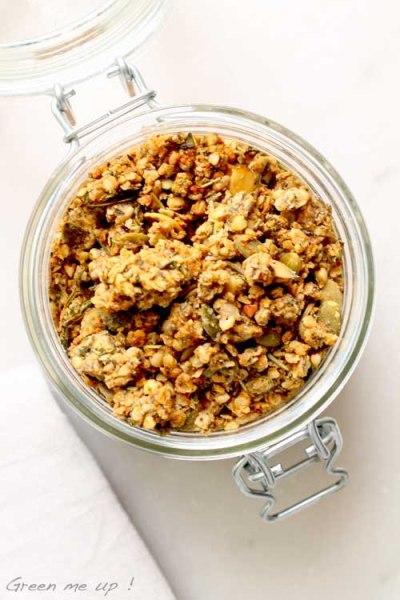 granola salé herbes graines levure maltée