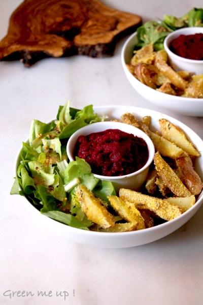 frites sans graisse ketchup betterave