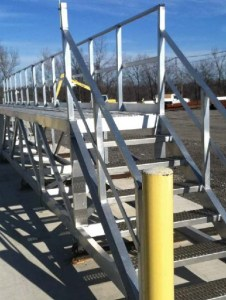 GREEN Flatbed Access Platforms for Railcars & Tank Trucks
