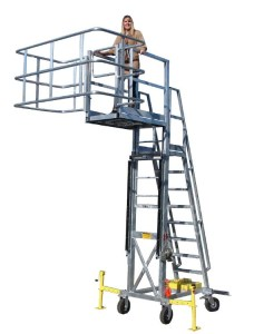 GREEN Adjustable, Self-supporting Access Platforms for Tank Trucks or Railcars | USA Made by Benko