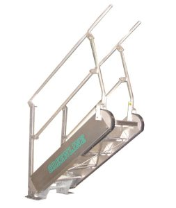 GREENLINE Gangway: Model SS – Self-Leveling Stairs | USA Made | Green-Mfg.com