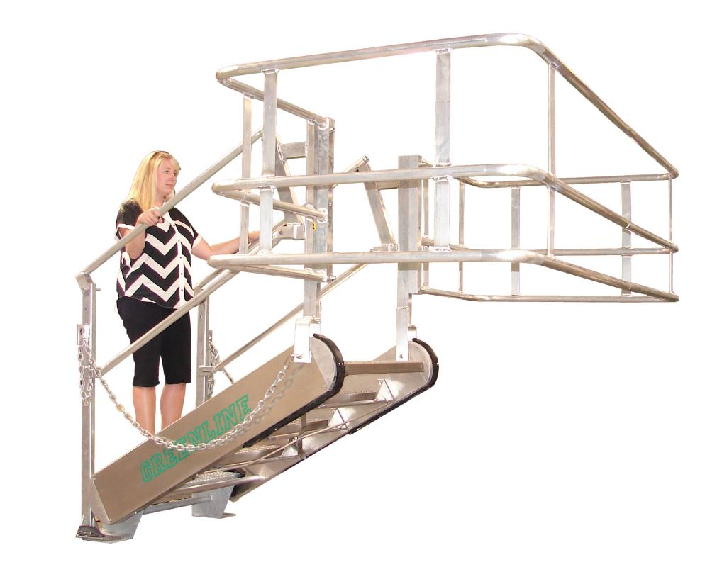 Self Leveling Stairs : Greenline gangway model ss self leveling stairs green