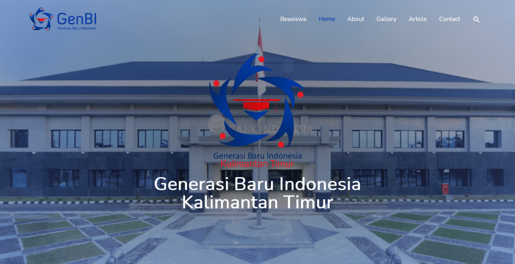 Website GenBI Kaltim