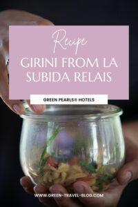 Green Pearls® Hotels, recette