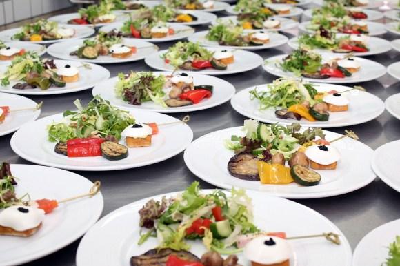 Vorspeisen im Catering