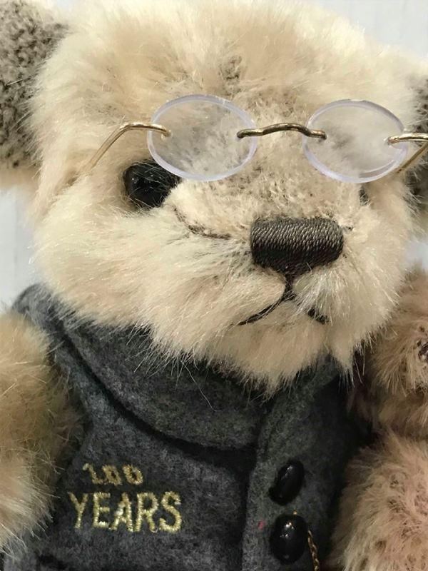 Bearington 100 Year Faux Mohair Bear With Stand - Green Acres Antiques Marietta OH