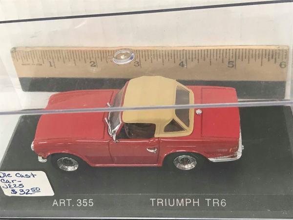 Die Cast 1969 Triumph TR6 - Green Acres Antiques Marietta OH