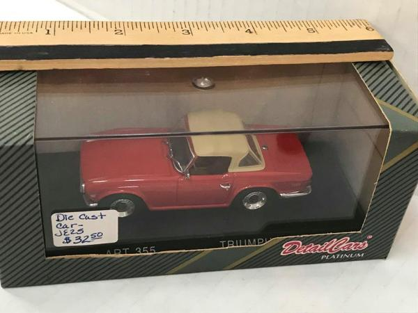 Die Cast 1969 Triumph TR6 - Green Acres Antiques Marietta OH