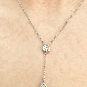 Fabulous Sterling Teardrop Necklace - Green Acres Antiques Marietta OH