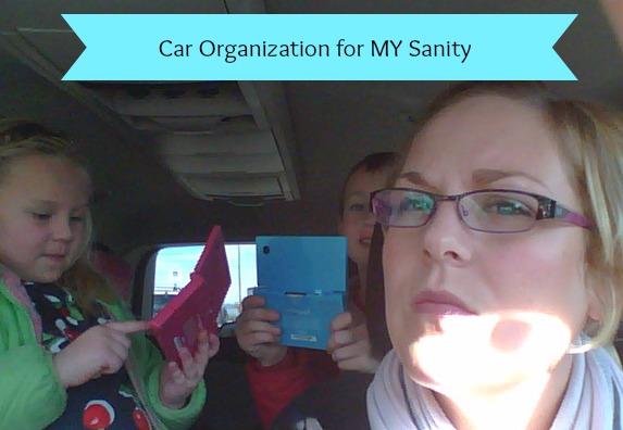 car organization for my sanity
