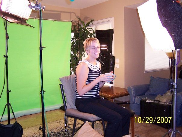 My hair cut short in 2007 while filming a video for the Shaklee Corporation