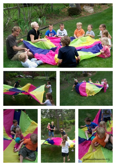 Parachute games and fun for #birthday parties! #partyplanning