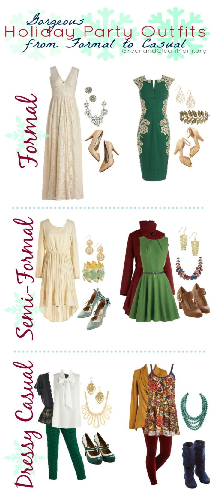 Green Clean Mom Modcloth Holiday Fashion Board VERTICAL