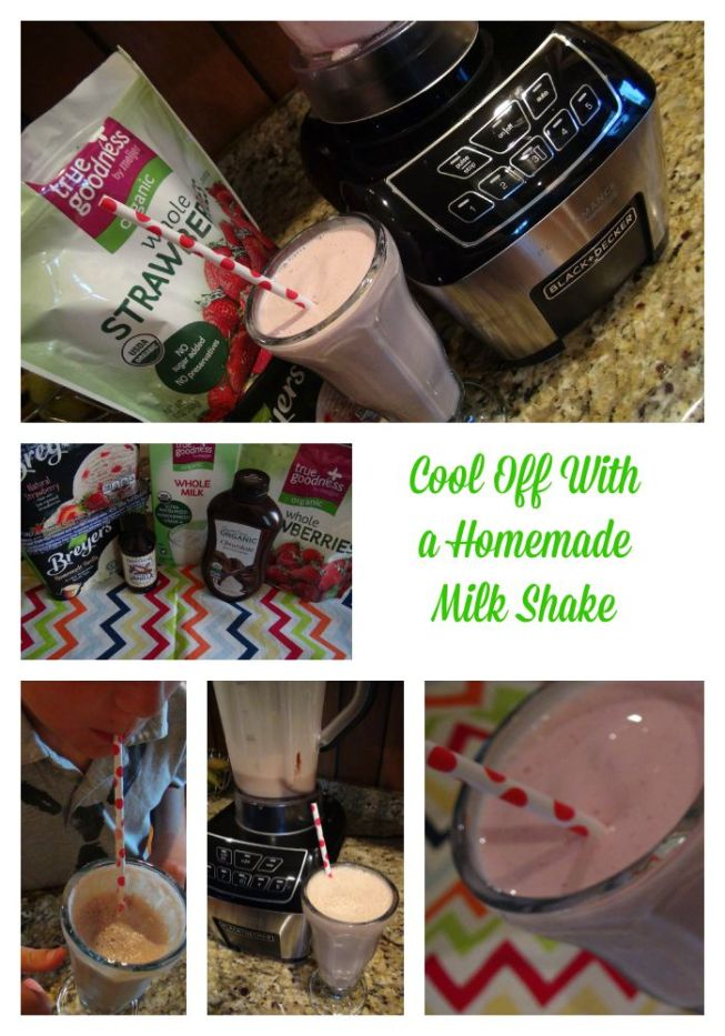 how to make homemade milkshakes with a blender