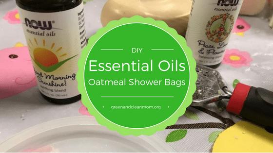 DIY Essential Oil Oatmeal Shower Bags