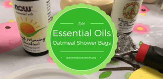 DIY Essential Oil Oatmeal Shower Bags