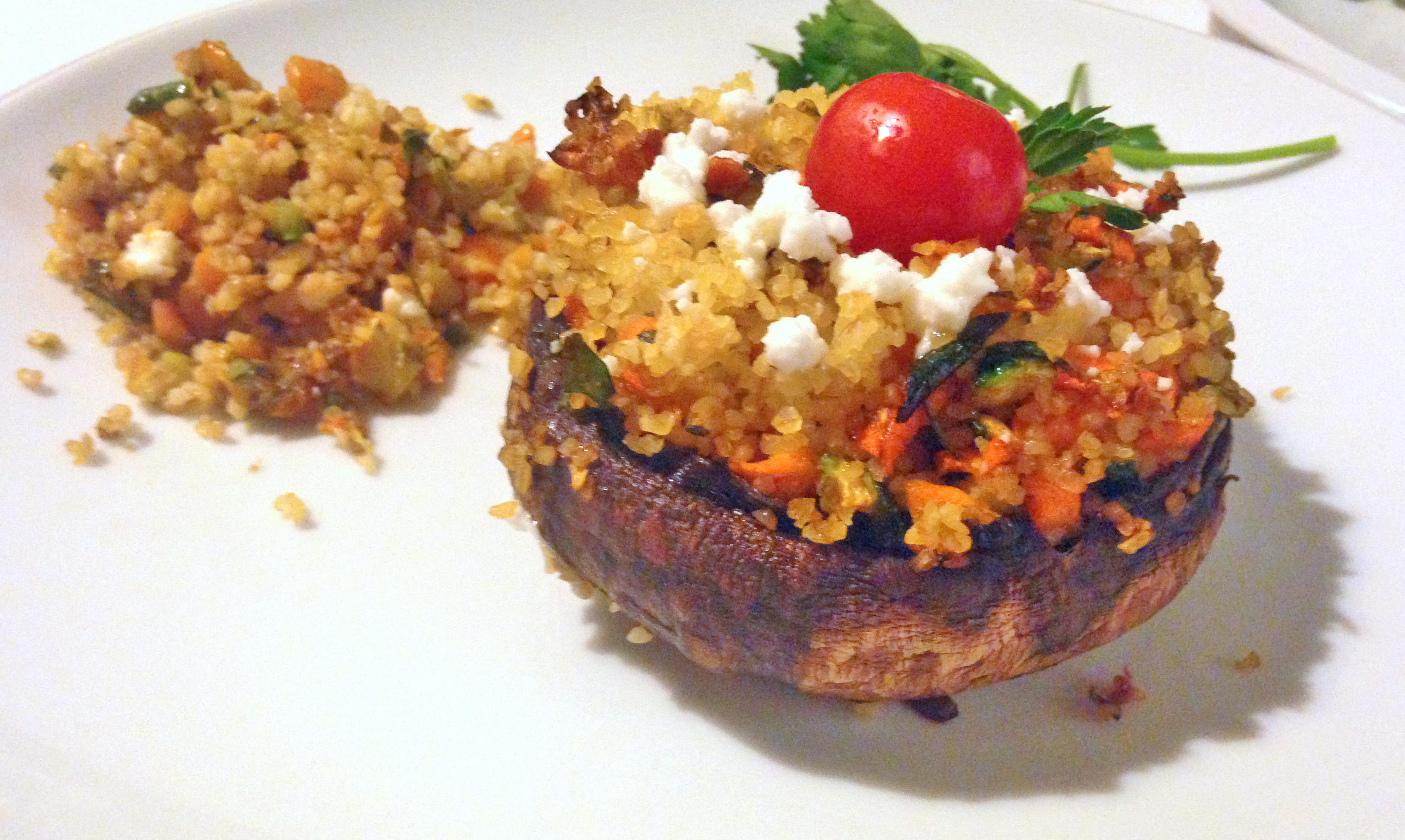 Bulgur & Portobello Mushroom