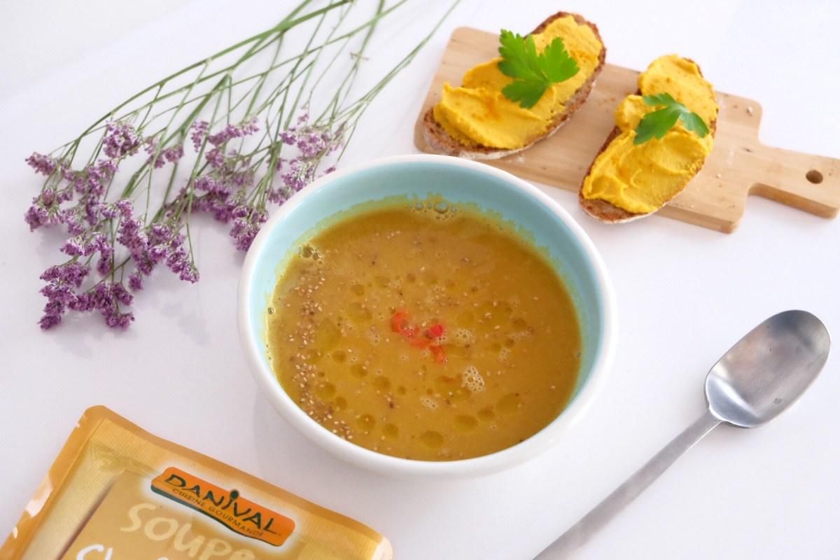 Hummus pois chiche/carotte