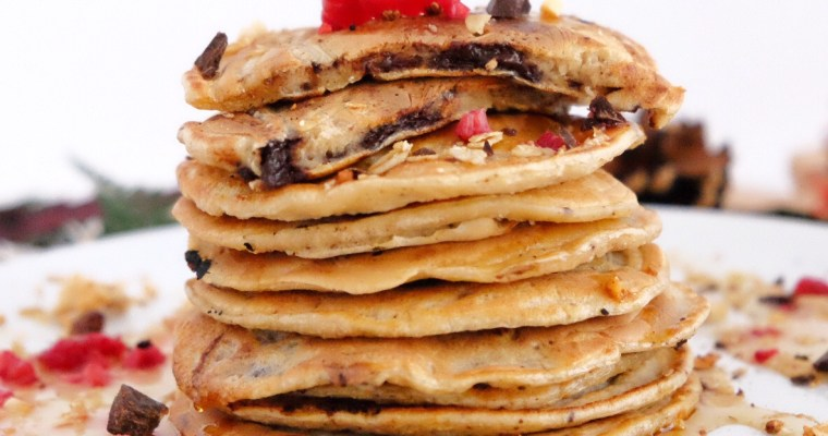 Pancakes con pepitas de chocolate