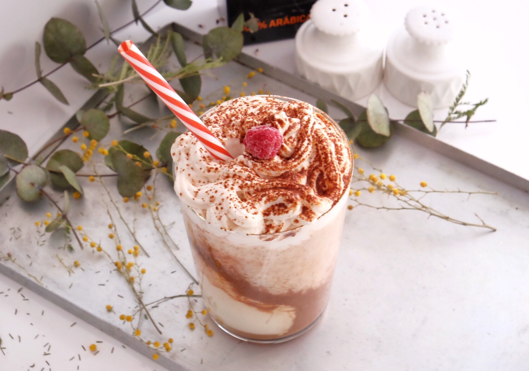 Delicious tiramisu smoothie