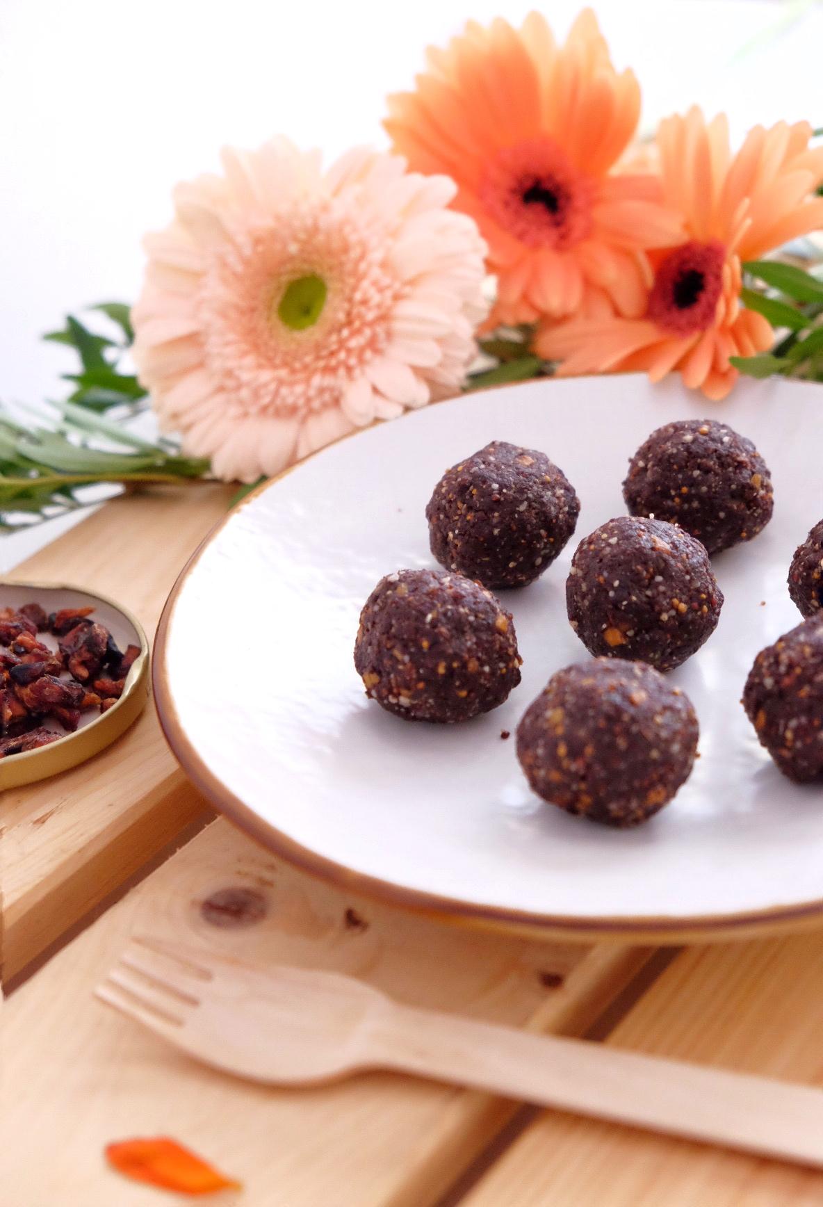 Las powers balls de chocolate sin gluten