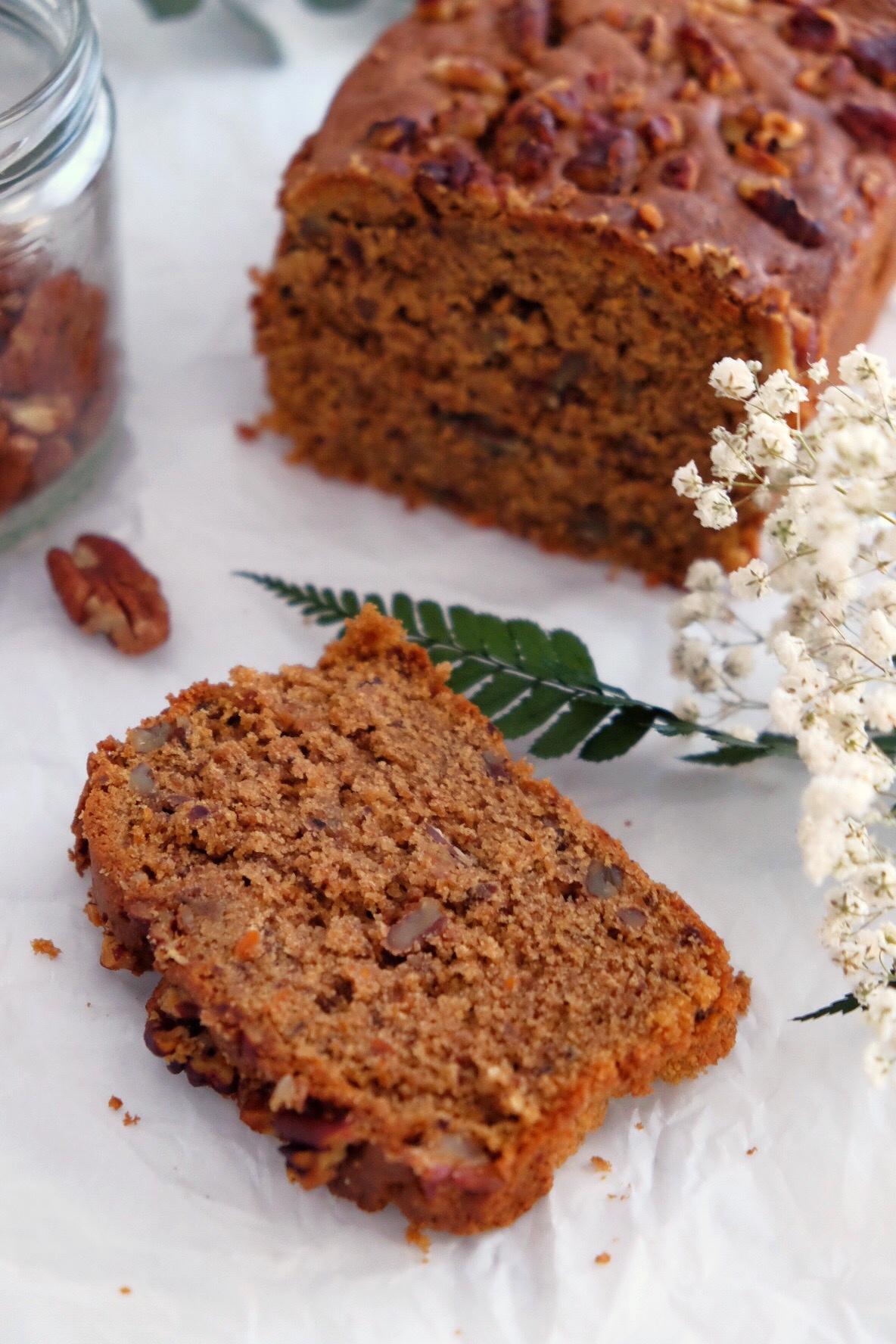 Délicieux gâteau aux carottes sans gluten