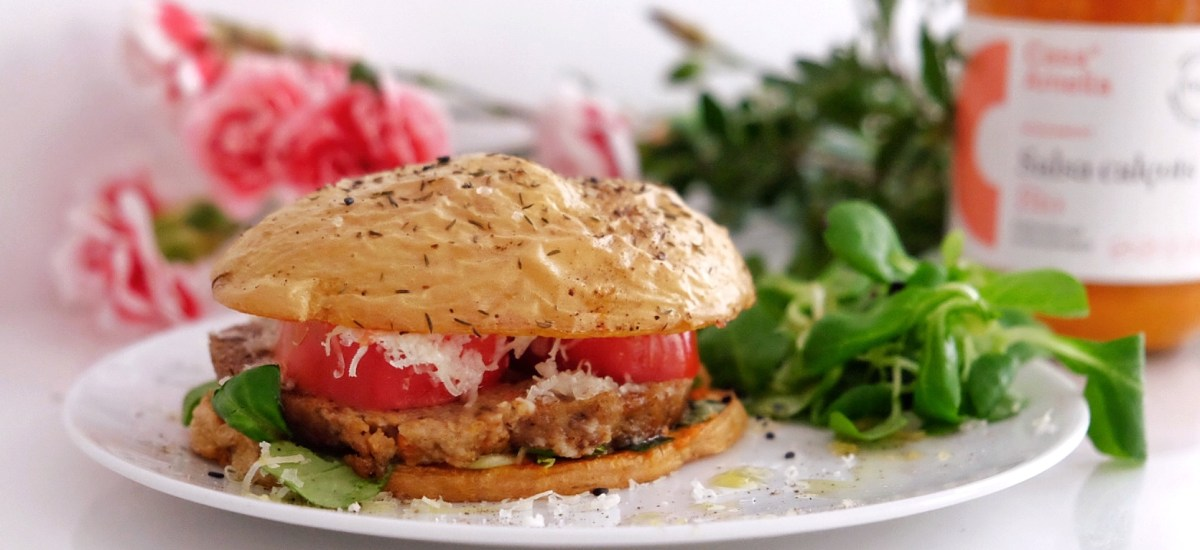 Vegetarian burgers without bread