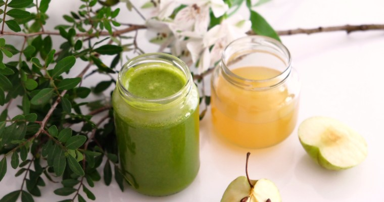 Apple, kale, orange and ginger juice