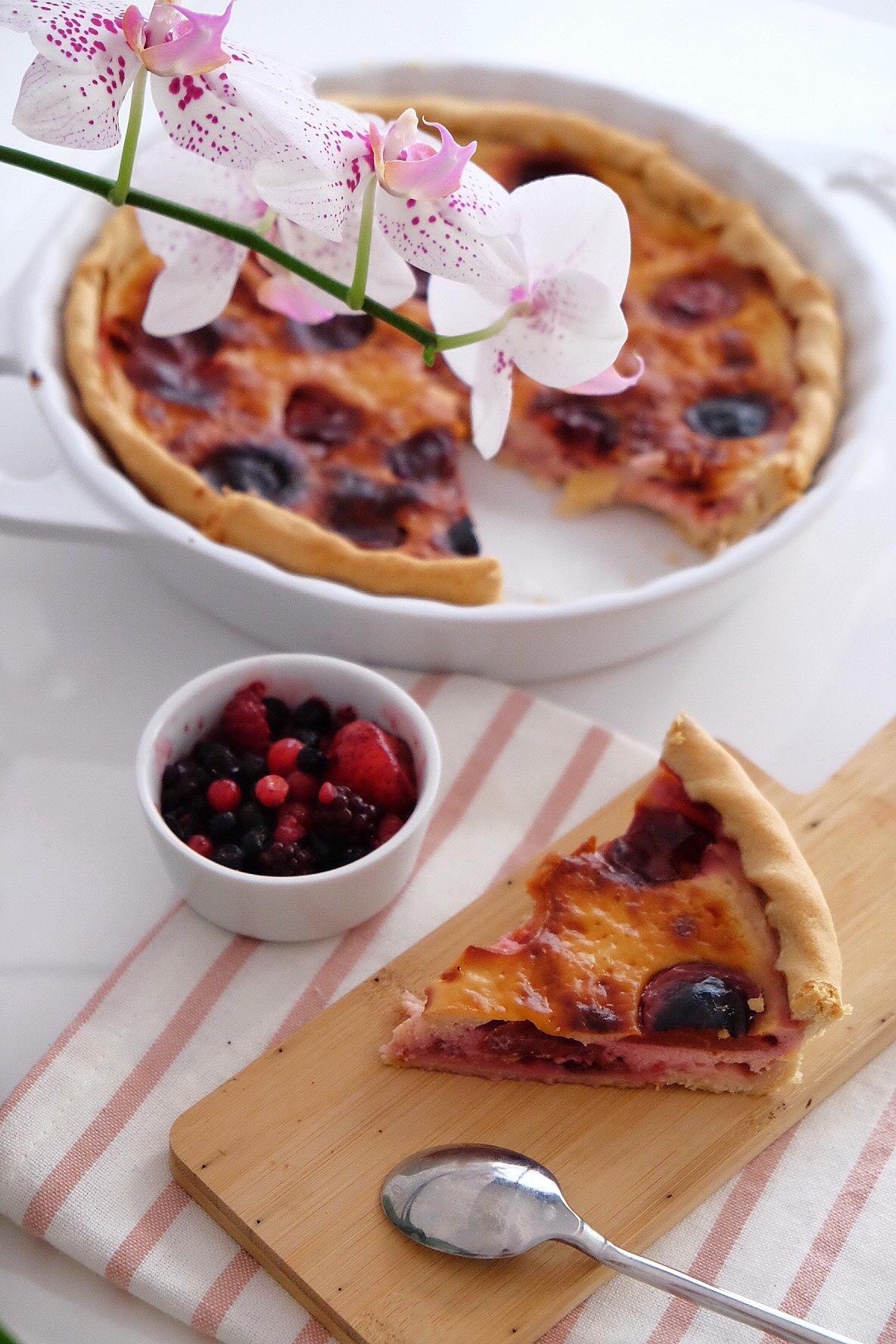 Délicieuse tarte végétarienne aux prunes