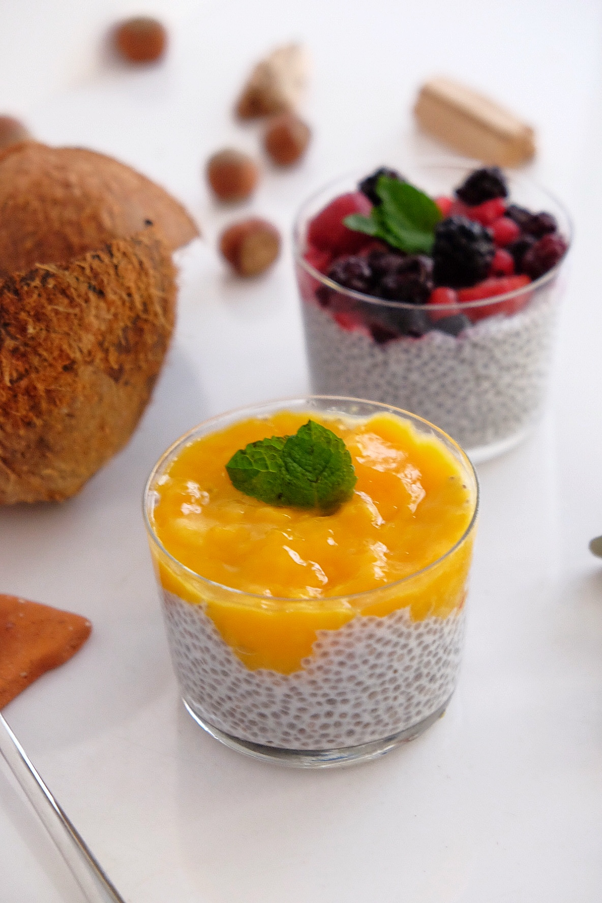 Chia pudding with coconut milk