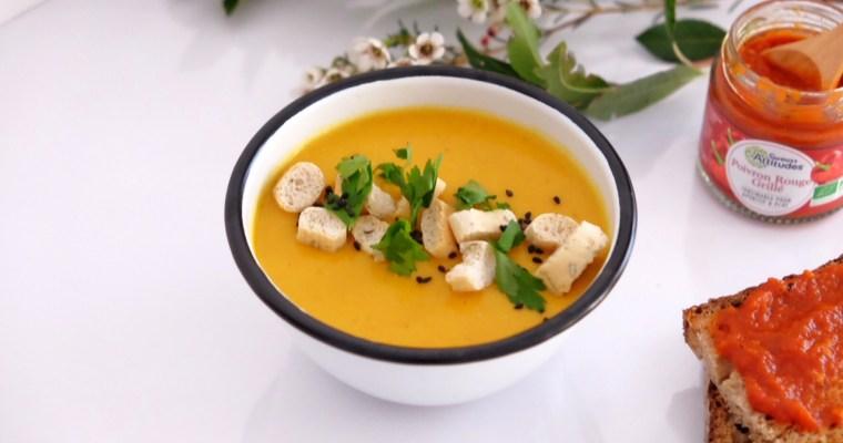 Soupe de carottes, lentilles corail et curry