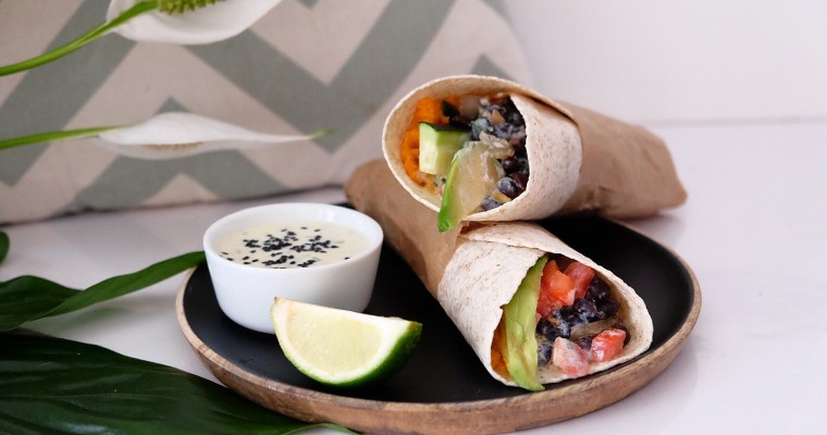 Veggie Wrap with yogurt/chives dressing