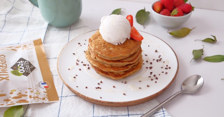 Extra soft pancakes with sprouted wheat flakes