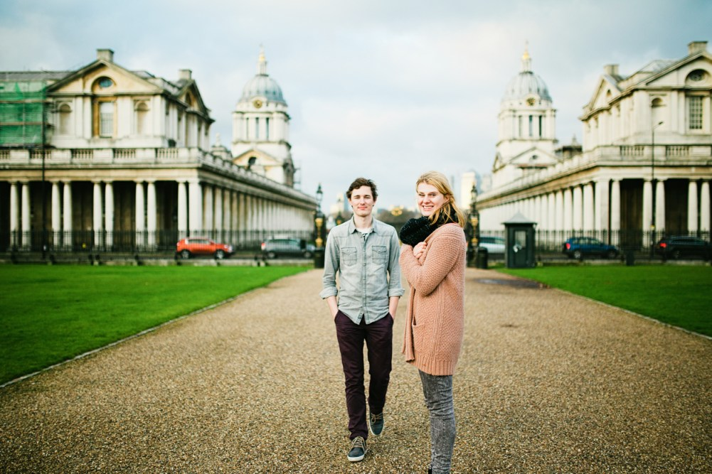 London greenwich naval college engagement session