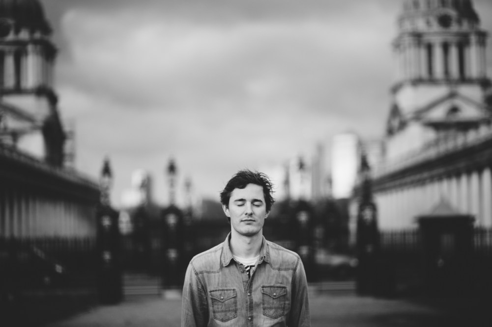 black and white portrait at gREENWICH nAVAL college by greenwich wedding photographer