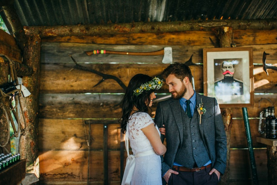 bride and groom photoshoot at the good life experience festival by hawarden photographer