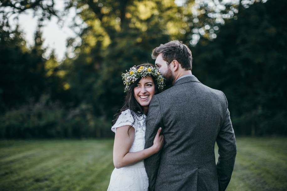 bride and groom portrait at the good life experience festival by hawarden wedding photographer