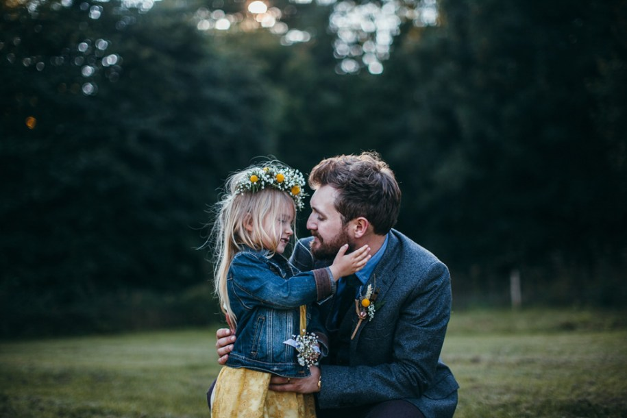 groom and his daughter by hawarden wedding and portrait photographer