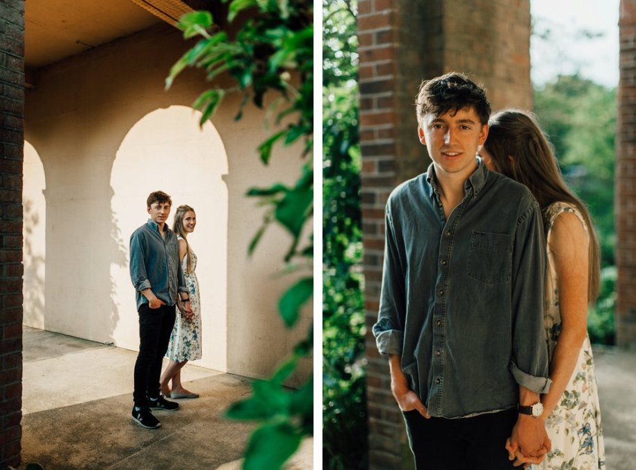 Pergola and Hill Gardens Engagement shoot in Hampstead Heath