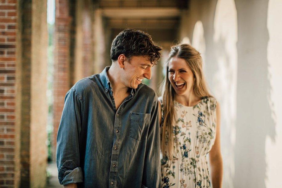 Engagement shoot at Hampstead Pergola Gardens in London