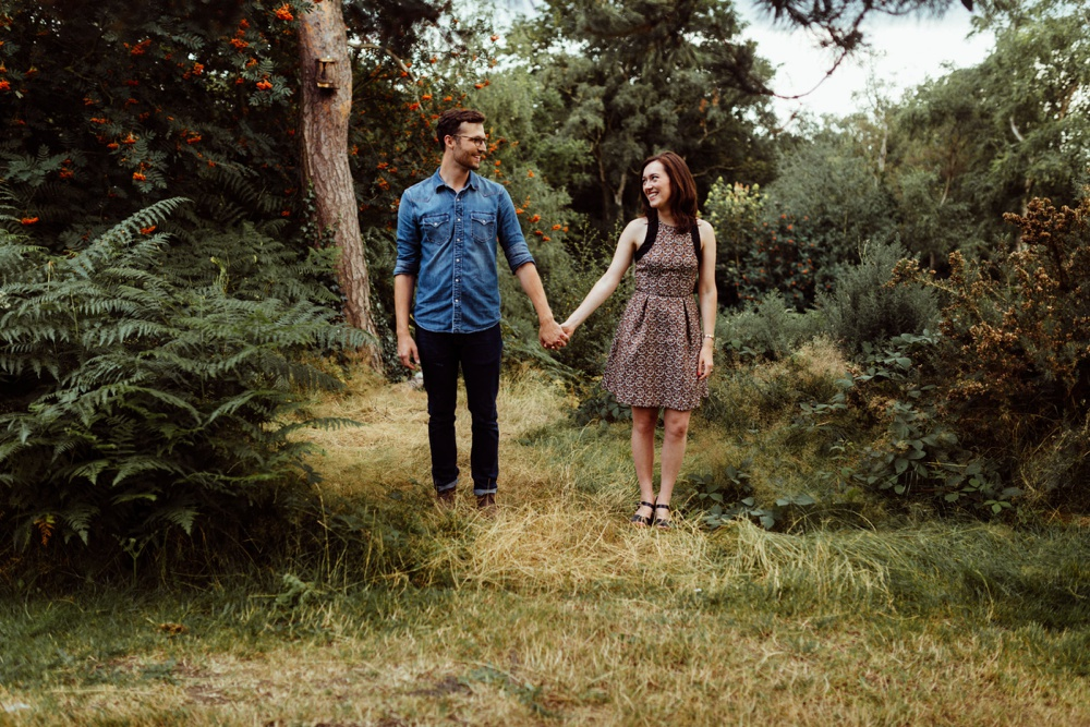 engagement shoot in Hampstead heath
