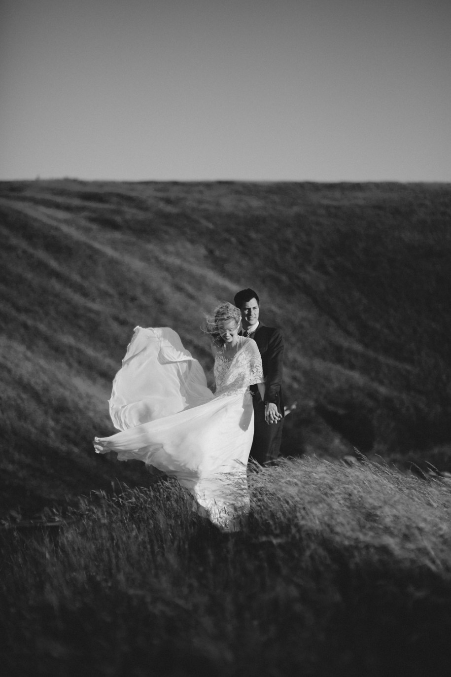 black and white bride and groom in oxfordshire
