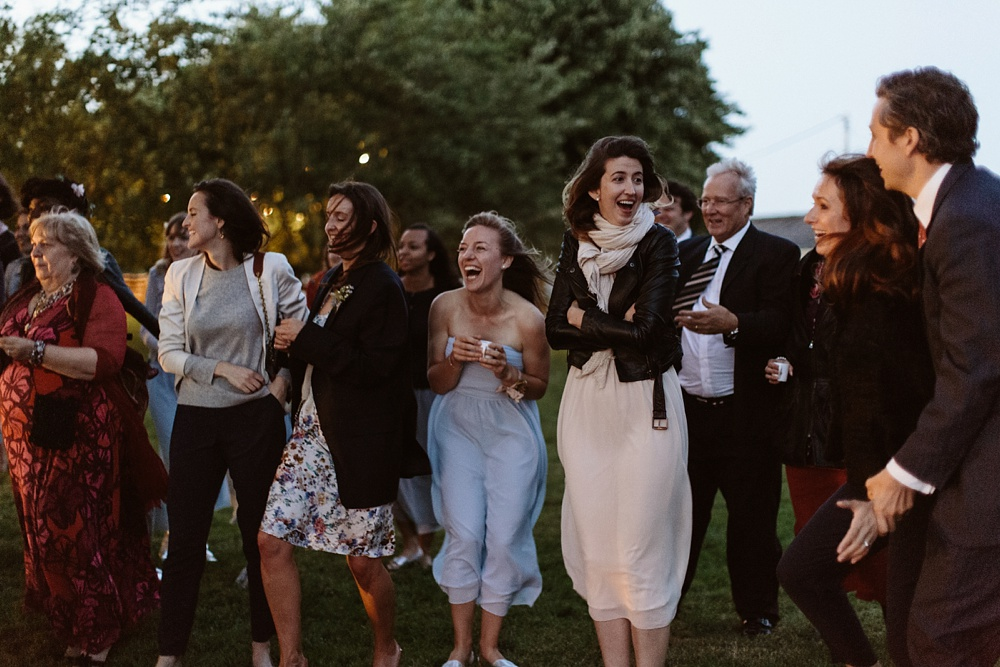 guests at garden wedding