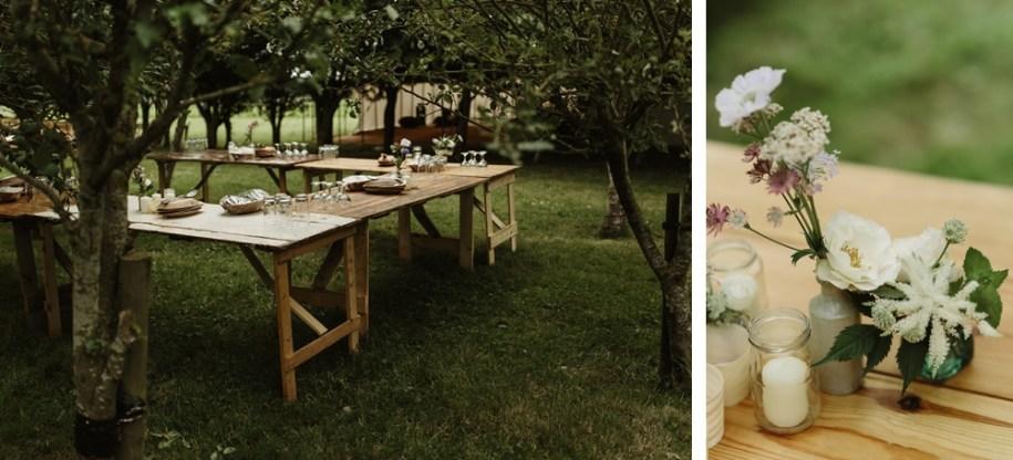 marquee wedding in a private garden in Oxfordshire