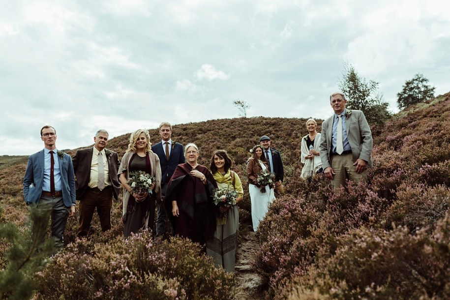 wedding guests in Northumberland