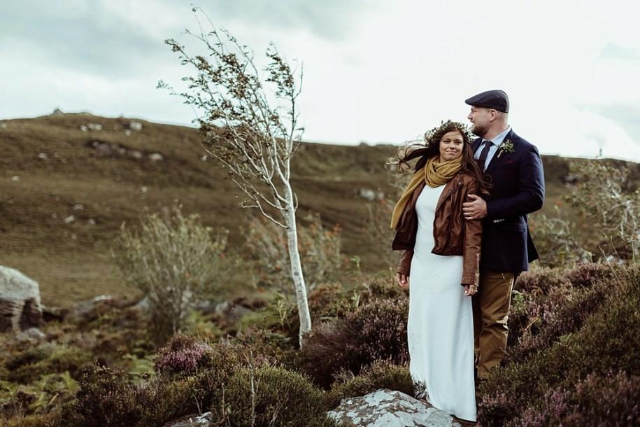 bride and groom elope in Northumberland